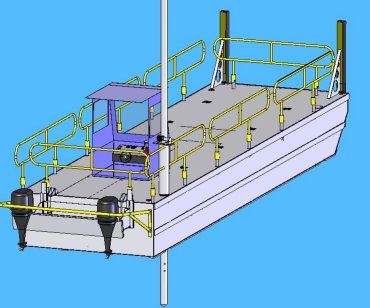 BARGES, CONSTRUCTION, TRUCKABLE, PIN TOGETHER