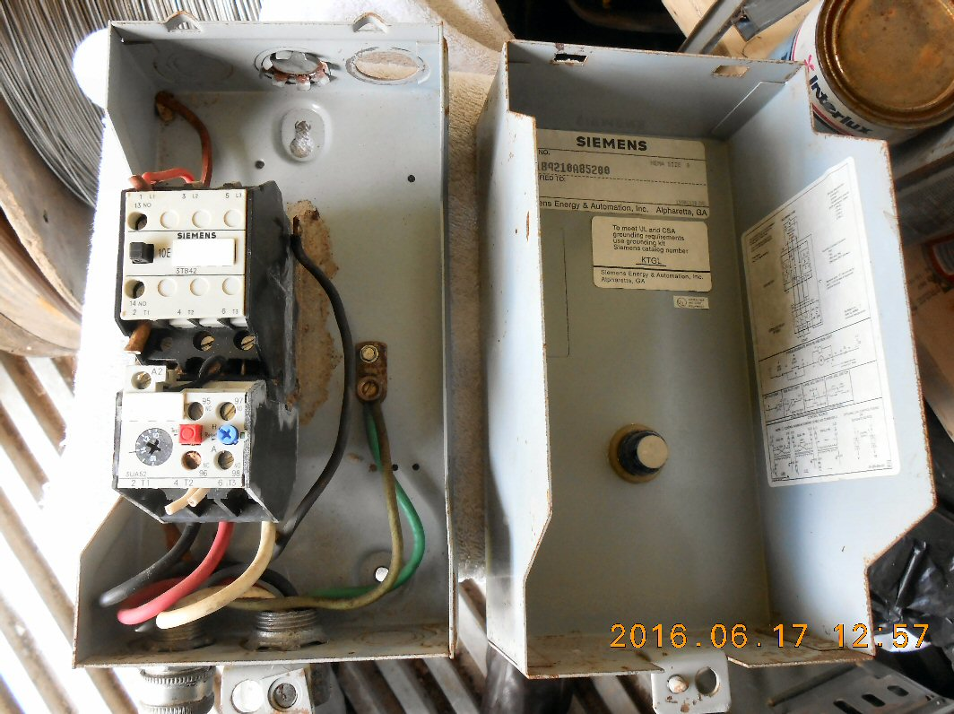 3 Phase Motors And Other Ac Electrical Equipment Motor Wiring Red Black White Blue Electric Starter Siemens Model Sxl1b4218a85288 Nema Size 0 Used About 80 Condition Shipping Dimensions 11 15 Inches Long By 55 Wide